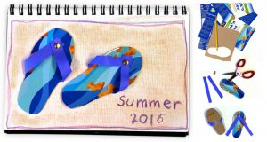 summer flip flop collage