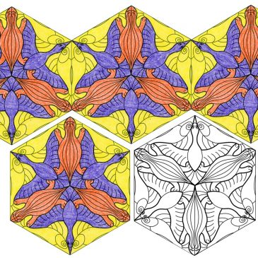 Escher Hexagon Tessellation