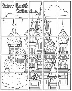 Saint Basil's Cathedral collaborative art project diagram