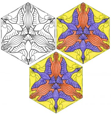 Escher Animal Tessellation