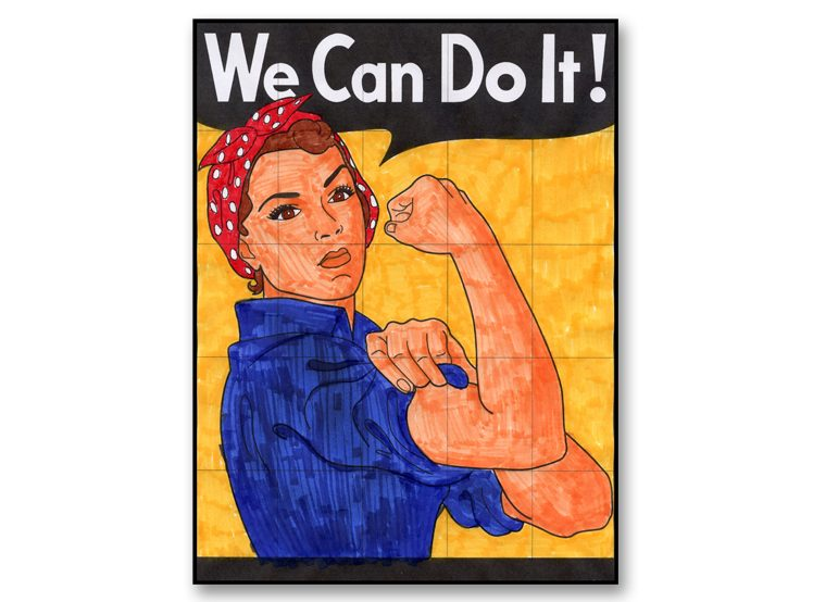 We Can Do it collaborative art project