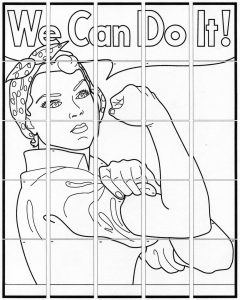 We Can Do it collaborative art project diagram