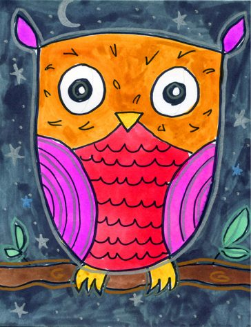 Draw an Easy Owl