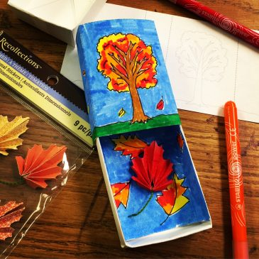 Fall Leaf Matchbox Art