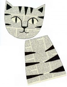 http://artprojectsforkids.org/wp-content/uploads/2016/08/Newspaper-cat-1-232x300.jpg