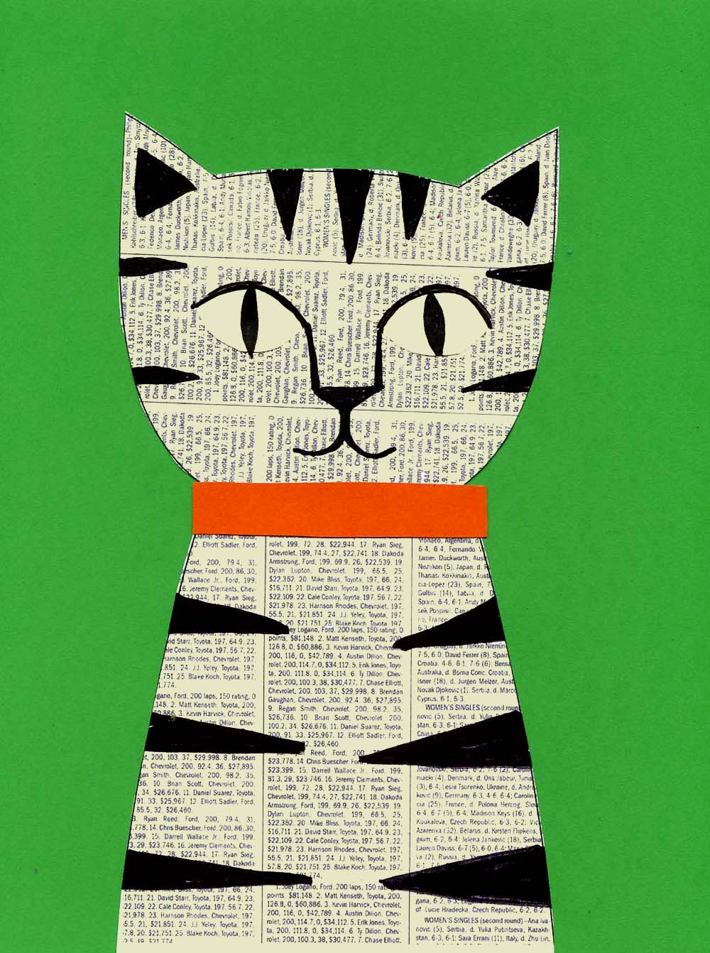Newspaper Cat Collage | Art Projects for Kids | Bloglovin'