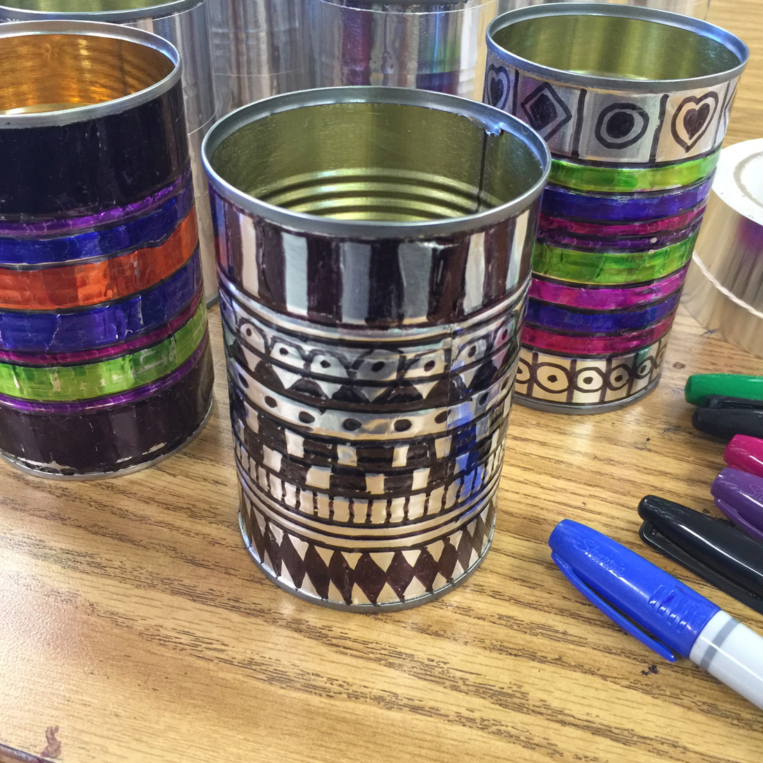 sharpies and tin cans art projects for kids