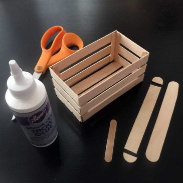 Craft Stick Crate