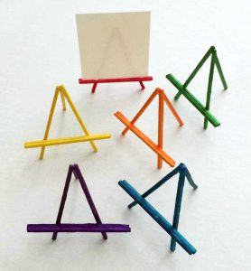Mini match stick easels