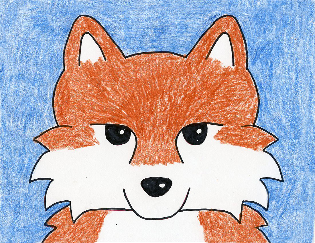 How to Draw a Fox Face - Art Projects for Kids