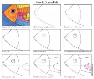 http://artprojectsforkids.org/wp-content/uploads/2016/09/How-to-draw-a-Fish-diagram-300x252.jpg