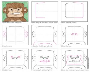 http://artprojectsforkids.org/wp-content/uploads/2016/09/How-to-draw-a-Gorilla-diagram-300x242.jpg