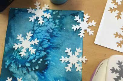 Easy Snowflake Art with Paint and Paper