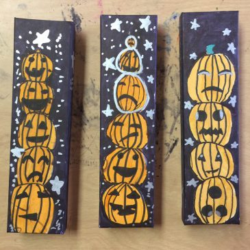 Halloween Boxes with Sharpies