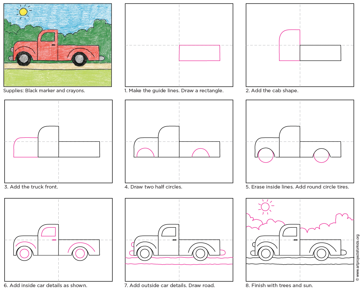 Uncategorized How To Draw A Truck Step By Step draw a simple truck art projects for kids drawing