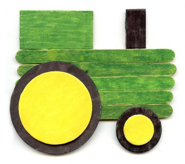 Make a Tractor from Popsicle Sticks