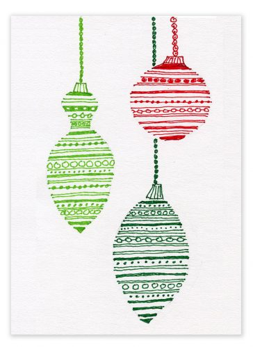 Ornament Christmas Card