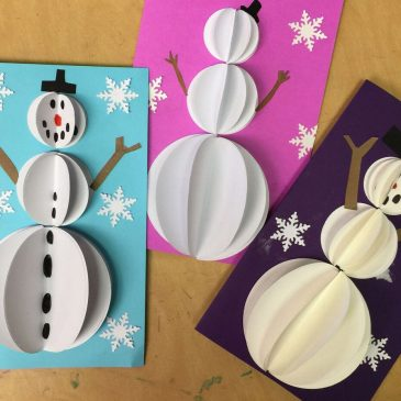 Snowman Pop Out Cards