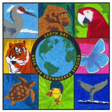 Endangered Animals Earth Day Mural