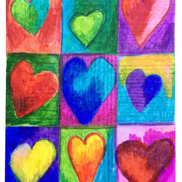 Collaborative Hearts on Canvas
