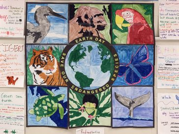 Student Endangered Animals Mural