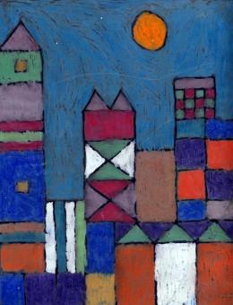Paul Klee Oil Pastel Cityscape