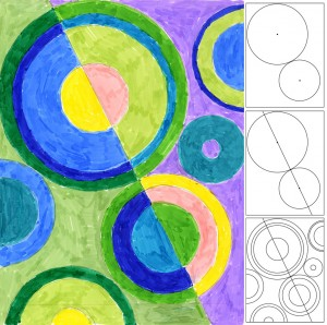Sonia Delaunay Marker Drawing project