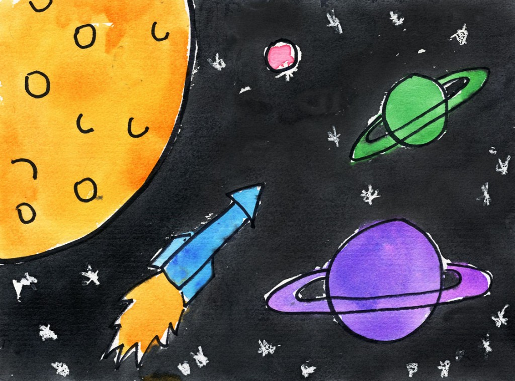 Outer Space Painting · Art Projects For Kids