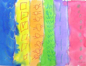 Watercolor Resist Patterns