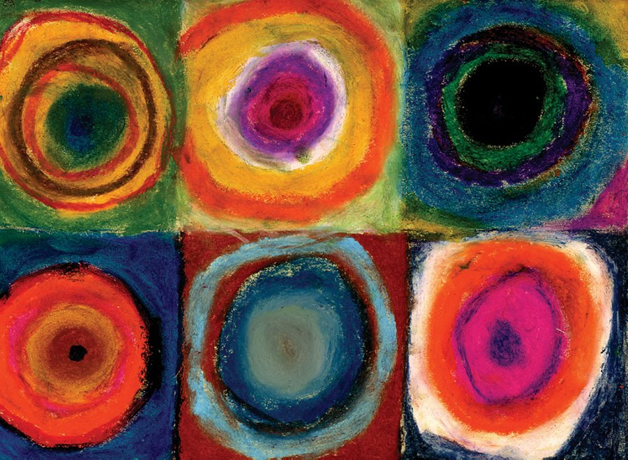 Kandinsky Circles With Oil Pastels Art Projects For Kids