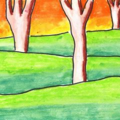 landscape drawing for kids