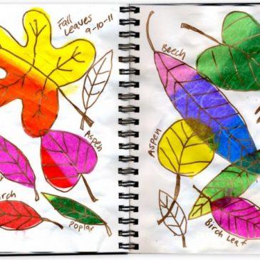 Art Journal Tissue Leaves