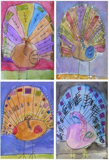 turkey line drawing