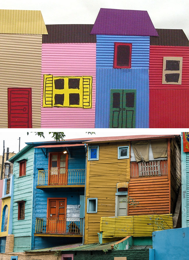 La boca houses of argentina art projects for kids for Projects of houses