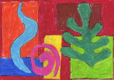organic Matisse shapes