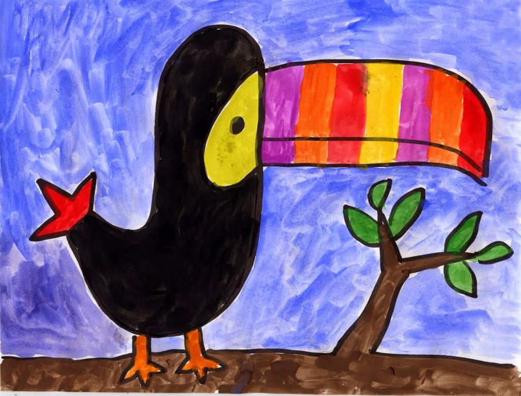 toucan bird drawing