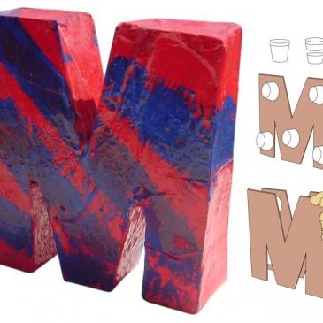 Paper Mache Cardboard Letters