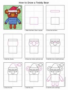 how to draw a teddy bear diagram