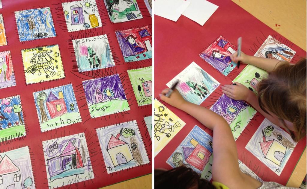 kindergarten paper quilt art projects for kids