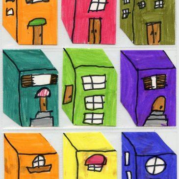 Little Buildings Art Trading Cards