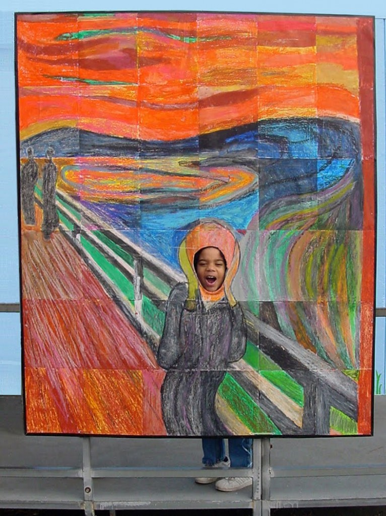 the scream art project