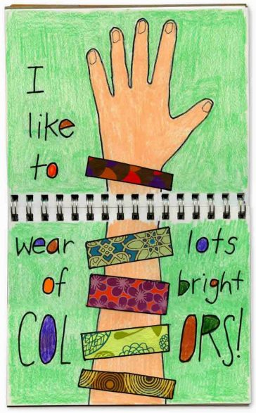 Bracelet Collage Journal Page