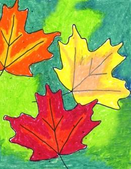 Layered Pastel Leaves