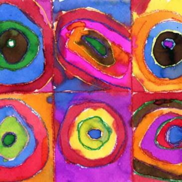 Kandinsky Watercolor Painting