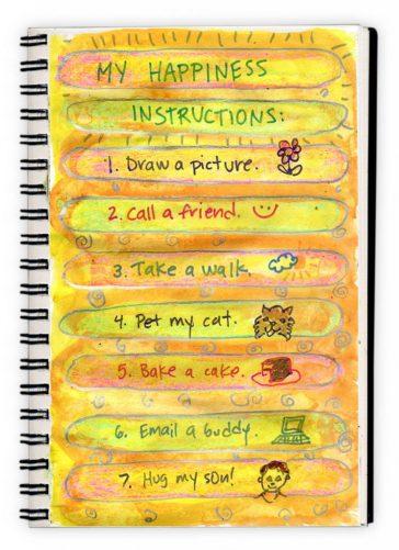 """Art Journal """"Happiness List"""""""