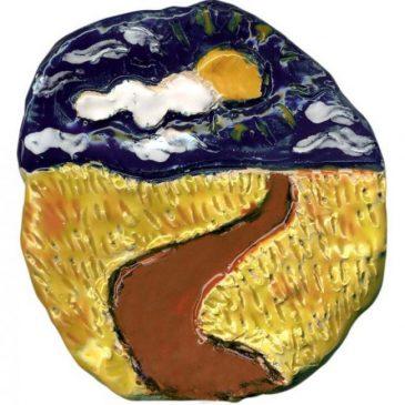 Van Gogh Ceramic Landscape