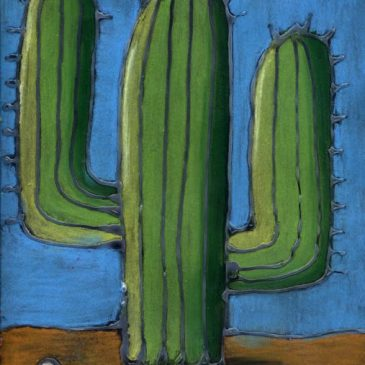 Pastel Cactus Drawing