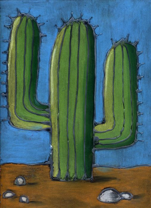 How To Draw A Cactus With Shadows Art Projects For Kids