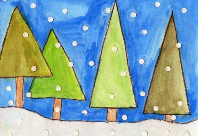 winter art for kids