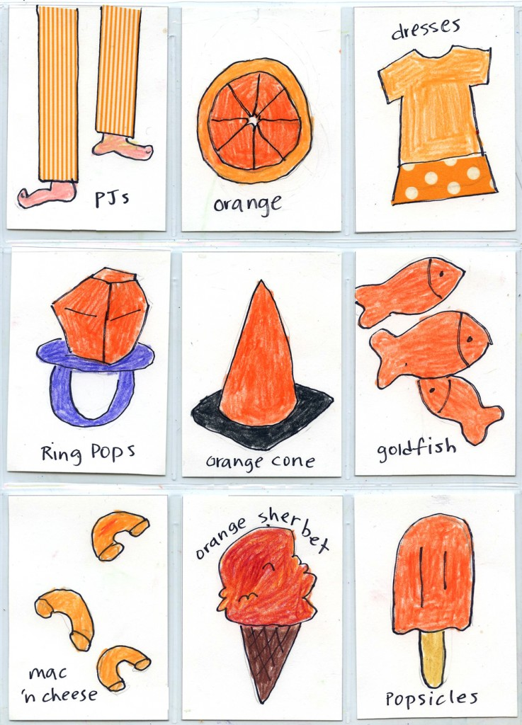 Things that are orange atc cards art projects for kids for Orange colour things